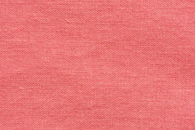 Red stoff leinwand makro schuss als textur oder hintergrund