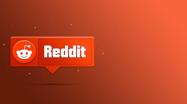 Reddit-logo auf sprachblase 3d rendern