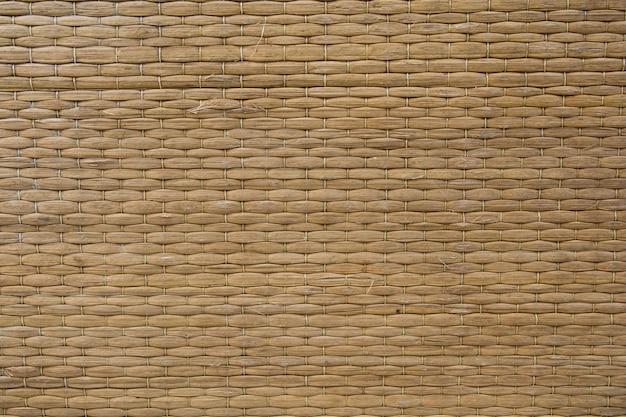 Reed matten textur hintergrund. gewebter cyperus difformis