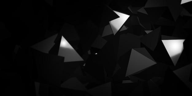 Reflektierender dreieckswürfel abstrakter hintergrund 3d-darstellung