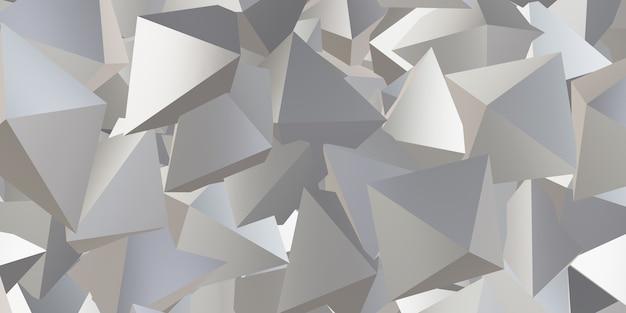 Reflektierender dreieckwürfel abstrakter hintergrund 3d illustration