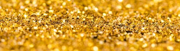 Reflektierender goldener glitzer