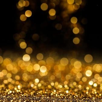 Reflektierender goldglitter