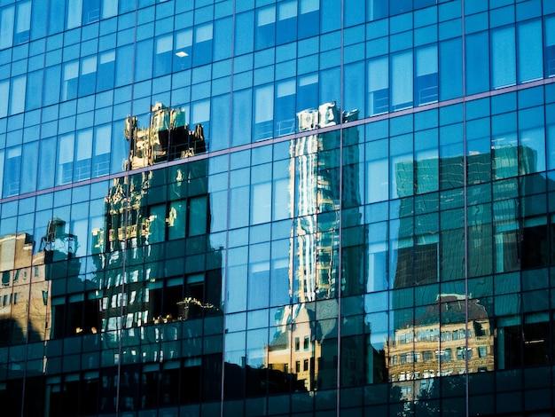 Reflexionen gebäude architektur blau