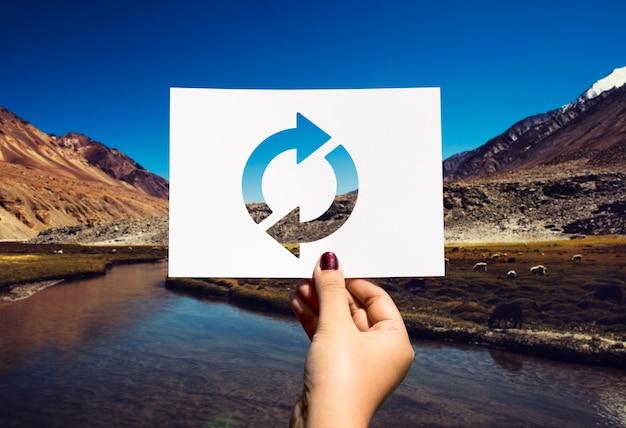 Refresh icon laden sie perforiertes papier neu