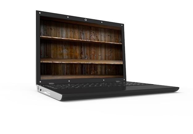 Regal in einem laptop
