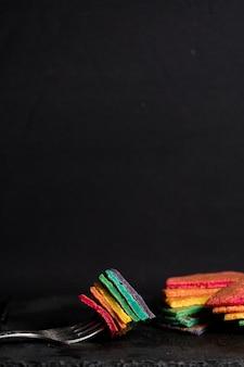 Regenbogen pfannkuchen