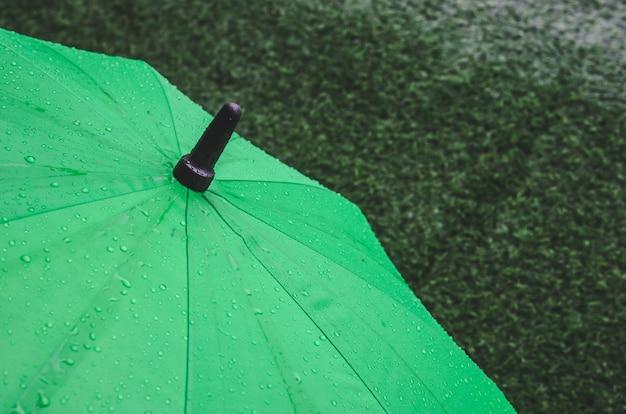 Regenschirm und regen