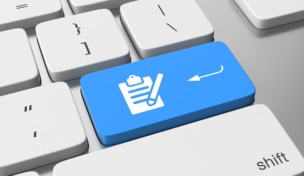 Registrieren symbol auf tastatur-taste