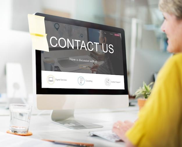 Registrierungsanfrage online-webseitenkonzept