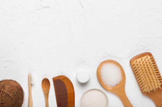 Reibwerkzeugsatz am badekurort und an den produkten