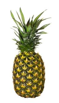 Reife ananas isoliert auf weißer oberfläche, nahaufnahme.
