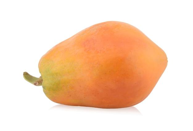 Reife papaya isoliert