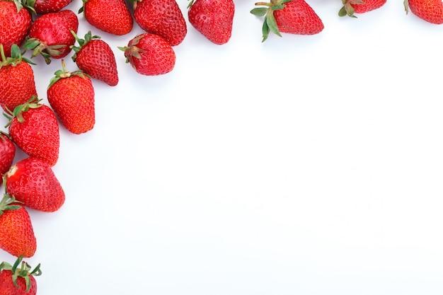 Reife saftige erdbeeren