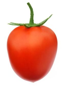 Reife tomate isoalated über weißem hintergrund