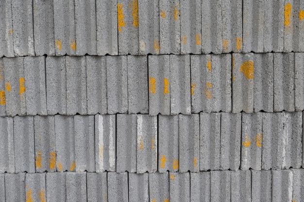 Reihe des grauen ziegelsteingebrauches zu buld wand für schützen anlagegut