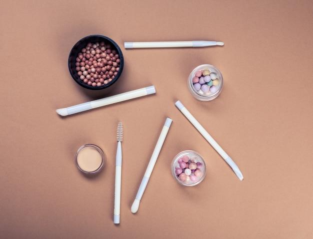Reihe von dekorativen kosmetik