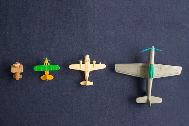 Reihe von modellen von flugzeugen