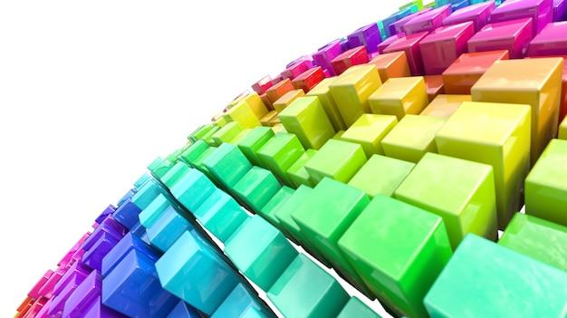Reihe von stücken in verschiedenen farben