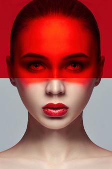 Reine perfekte haut und natürliches make-up, hautpflege