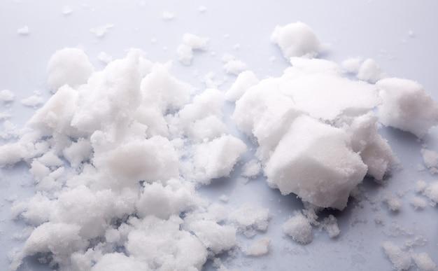 Reinigen sie die schneeschnee-textur-nahaufnahme