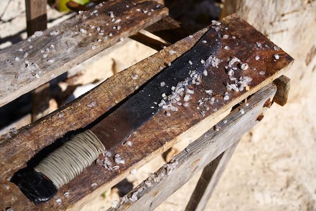 Reinigung abwickeln fisch holz riviera maya
