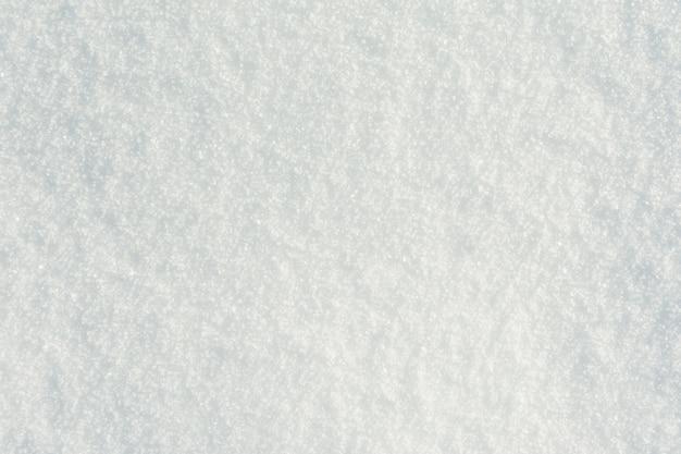Reinweiße schneeoberfläche