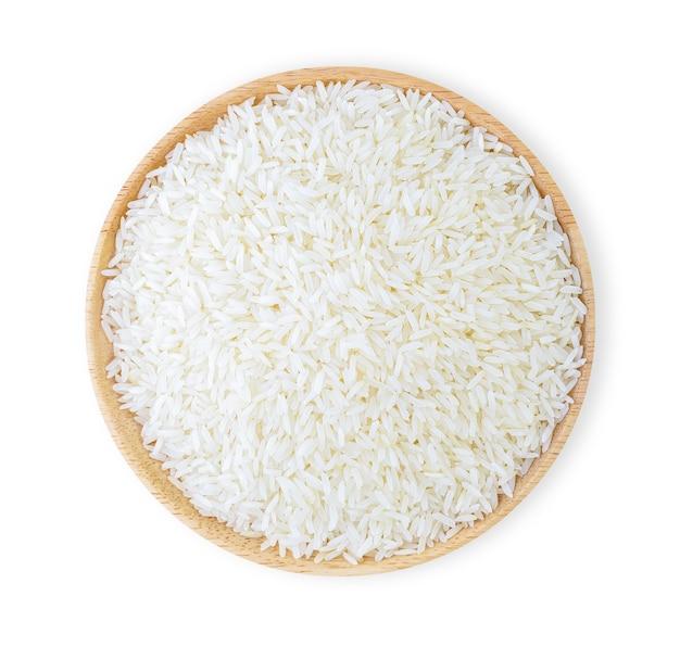 Reis lokalisiert auf weißem hintergrund