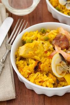 Reis mit meeresfrüchten