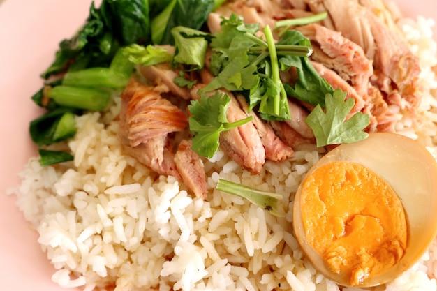 Reis mit schweinekeule