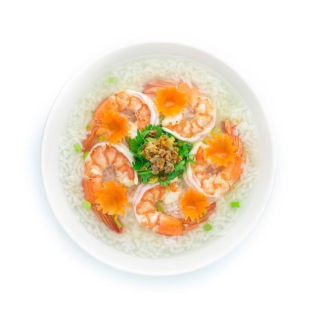 Reisbrei gekocht mit garnelen, die leckeren hauptkorb kochen