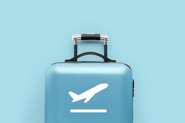 Reise & flugzeugmit dem gepäck