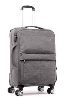 Reise grauer koffer isoliert