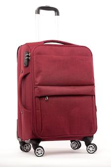 Reise roter koffer isoliert