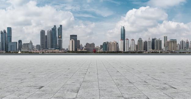 Reise shanghai avenue außen gebäude skyline