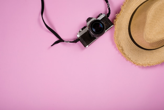 Reiseartikel gegenstände und gadgets draufsicht