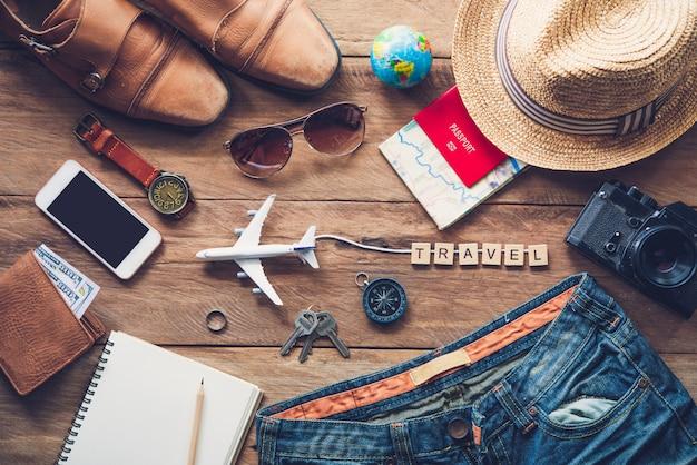 Reisekleidung und accessoires