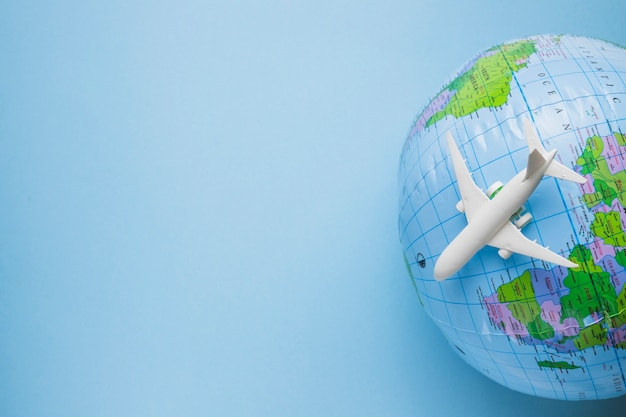 Reisekonzept mit globus