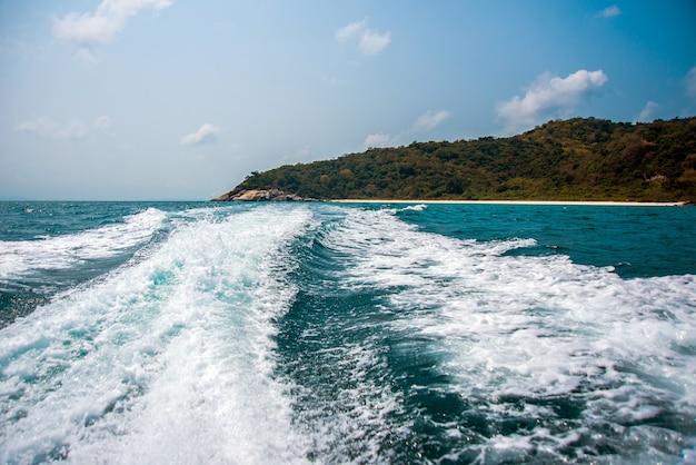 Reisen sie mit dem boot zum golf von thailand
