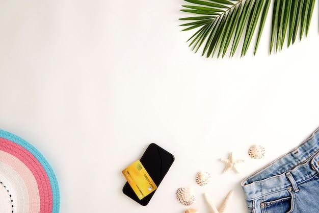 Reisen sie online urlaub sommerkonzept