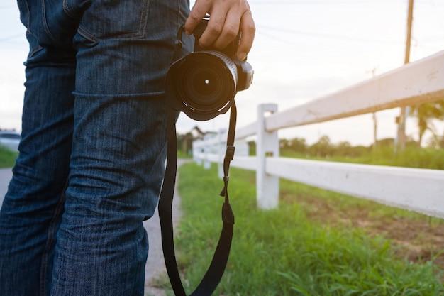 Reisende und kamera