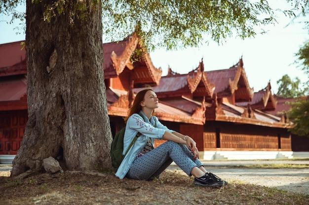 Reisender. mandalay, myanmar (birma)