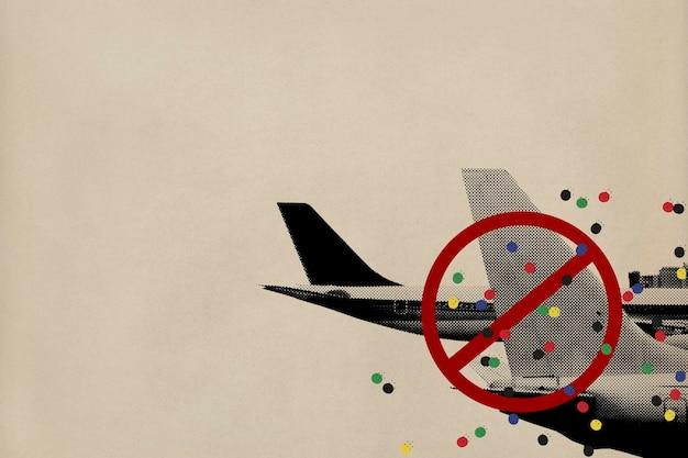 Reiseverbot während des hintergrunds der coronavirus-pandemie