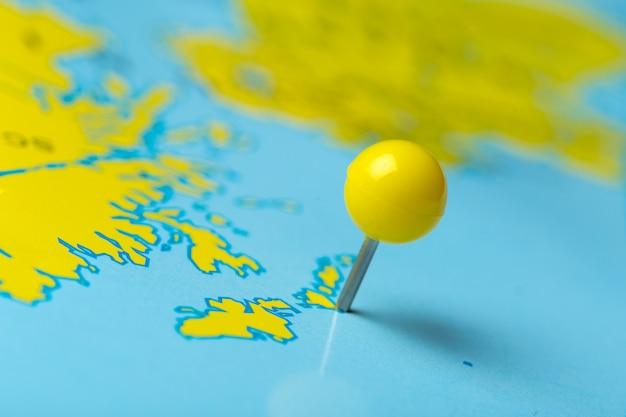 Reisezielpunkte auf einer karte