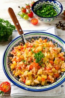 Reispilaf mit gemüse