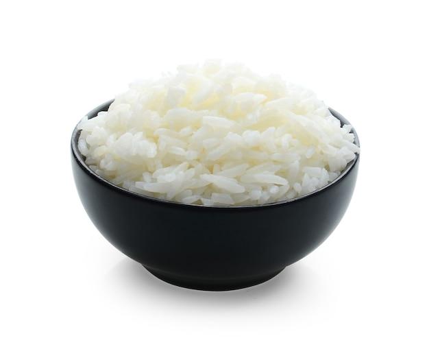 Reisschale auf weiß.