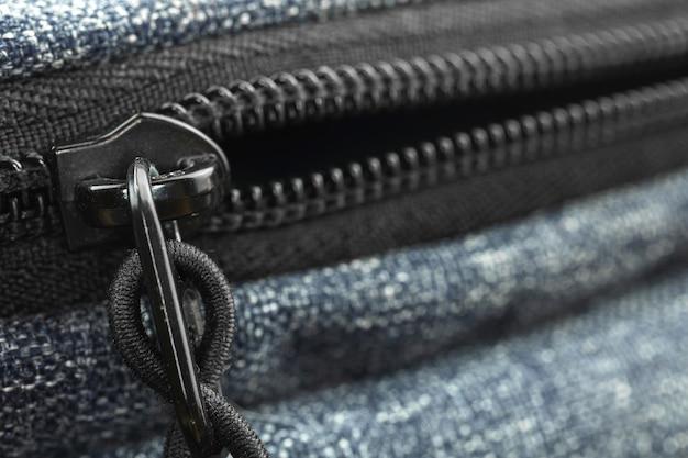 Reißverschlusstasche nahaufnahme hintergrund, zubehör design konzept foto