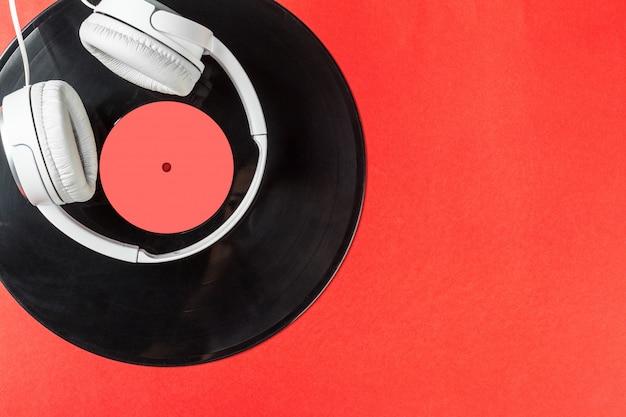Rekord auf einem roten