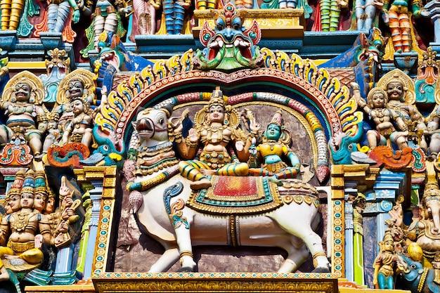 Relief des menakshi-tempels