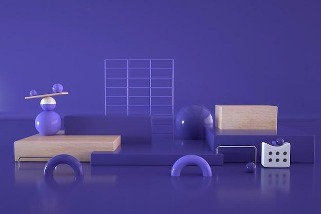 Rendering der abstrakten kugel für die produktanzeige